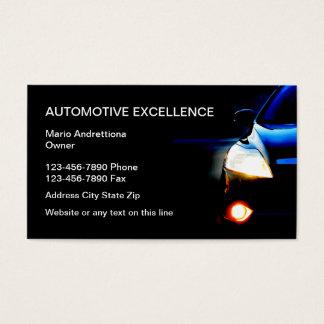 Services aux entreprises des véhicules à moteur cartes de visite