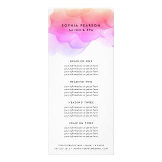 Services de l'aquarelle | ou listes des prix carte publicitaire