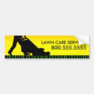 services verts de soin de pelouse de filet autocollant de voiture