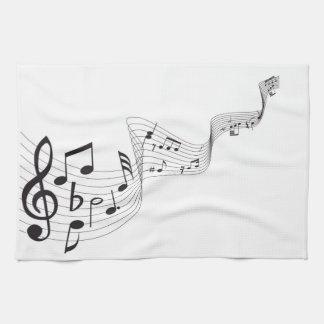 Serviette de cuisine de note musicale serviette pour les mains