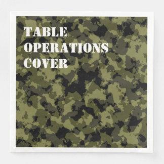 Serviette En Papier Les militaires de camouflage dénomment