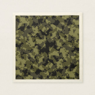 Serviette Jetable Motif militaire de style de camouflage