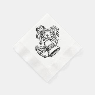 Serviettes de cloches de mariage d'ancre par le serviette jetable