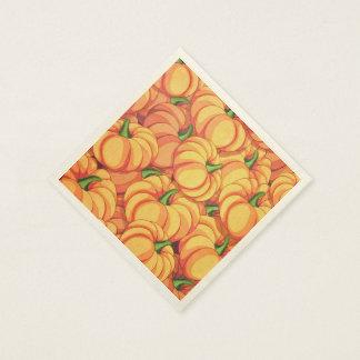 Serviettes de papier de citrouilles serviettes jetables