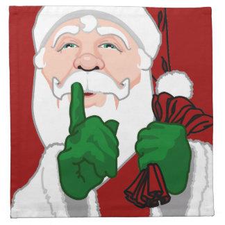 Serviettes du père noël de serviettes de Père Noël