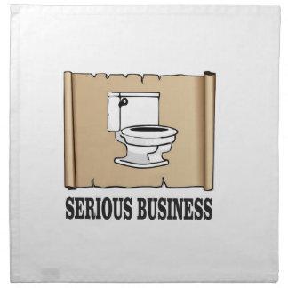 Serviettes En Tissus amusement sérieux d'affaires