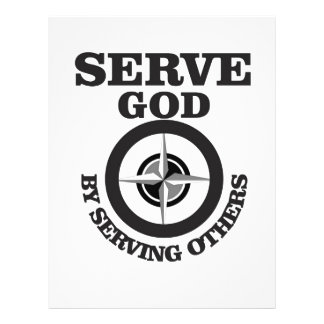 serving god by serving others letterhead template