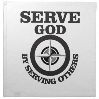 serving god by serving others napkin