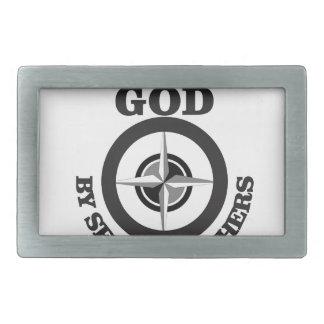 serving god by serving others rectangular belt buckles