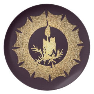 Serving Plate Holiday Candle