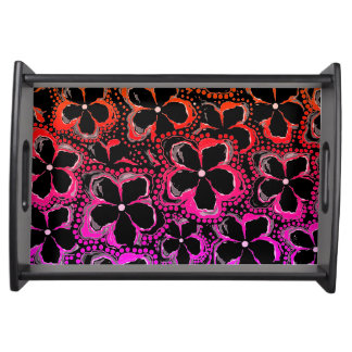 Serving Tray Black Pink Red
