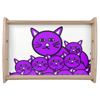 Serving Tray Cats