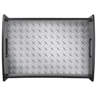 Serving Tray in Diamond Plate