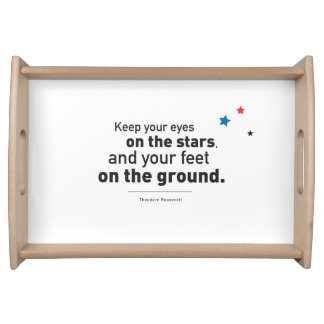 Serving Tray, Natural  Theo Roosevelt Quote Stars Serving Tray
