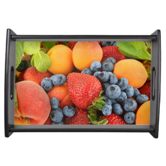 Serving tray with fresh and healthy berry