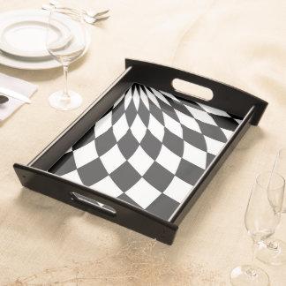 Serving Tray - Wonderland Floor in Black & White