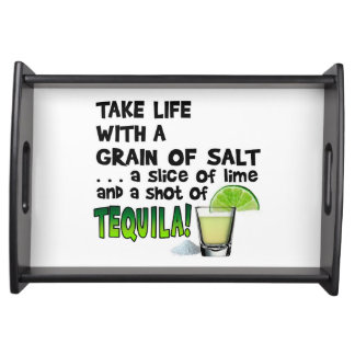 SERVING TRAYS - LIFE, LIME, SALT, TEQUILA!