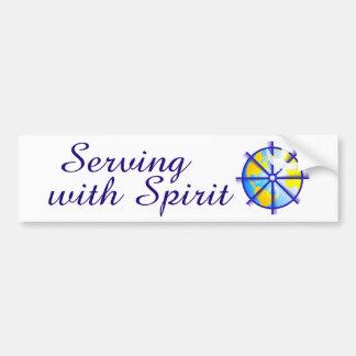 Serving with Spirit Bumper Sticker