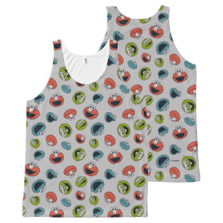 Sesame Street | All Star Team Pattern All-Over-Print Tank Top