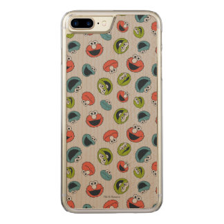 Sesame Street | All Star Team Pattern Carved iPhone 8 Plus/7 Plus Case