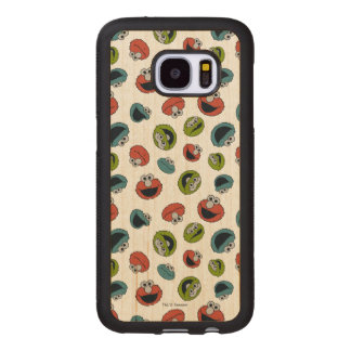 Sesame Street | All Star Team Pattern Wood Samsung Galaxy S7 Case