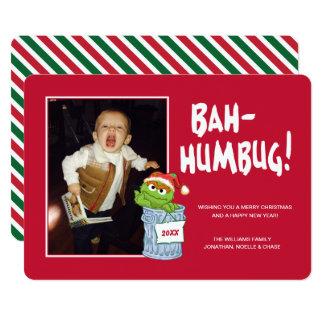 Sesame Street   Bah Humbug Oscar with Photo Card