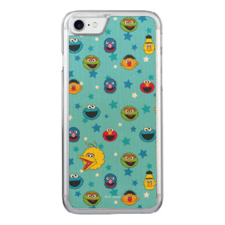 Sesame Street | Best Friends Star Pattern Carved iPhone 8/7 Case
