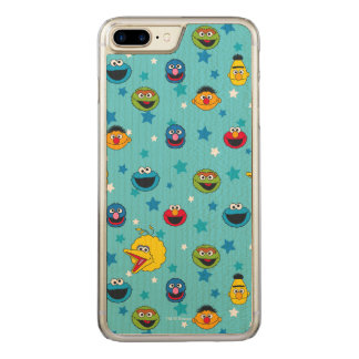 Sesame Street | Best Friends Star Pattern Carved iPhone 8 Plus/7 Plus Case