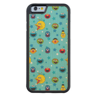 Sesame Street | Best Friends Star Pattern Carved Maple iPhone 6 Bumper Case