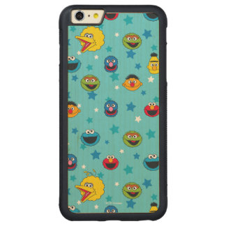 Sesame Street | Best Friends Star Pattern Carved Maple iPhone 6 Plus Bumper Case