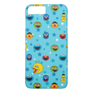 Sesame Street | Best Friends Star Pattern iPhone 8 Plus/7 Plus Case