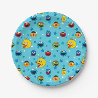 Sesame Street | Best Friends Star Pattern Paper Plate