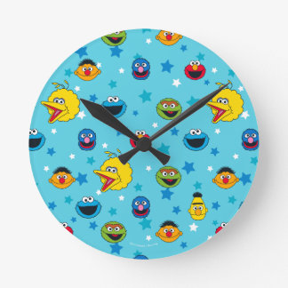 Sesame Street | Best Friends Star Pattern Round Clock