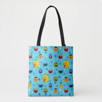 Sesame Street   Best Friends Star Pattern Tote Bag