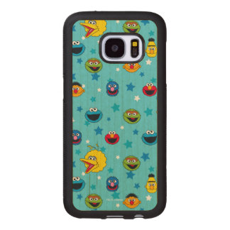 Sesame Street | Best Friends Star Pattern Wood Samsung Galaxy S7 Case