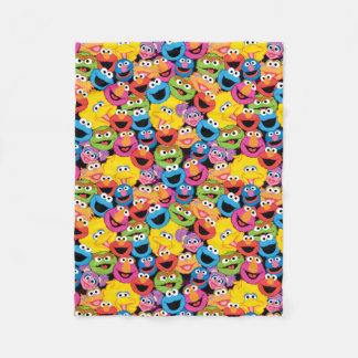 Sesame Street Character Faces Pattern Fleece Blanket