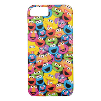 Sesame Street Character Faces Pattern iPhone 7 Case