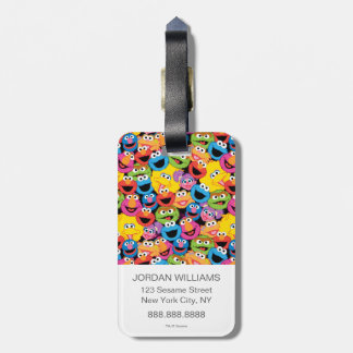 Sesame Street Character Faces Pattern Luggage Tag