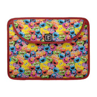 Sesame Street Character Faces Pattern Sleeve For MacBooks