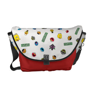 Sesame Street Character Pattern Courier Bags