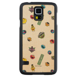 Sesame Street Character Pattern Maple Galaxy S5 Slim Case
