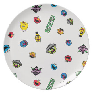 Sesame Street Character Pattern Plate