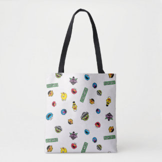 Sesame Street Character Pattern Tote Bag
