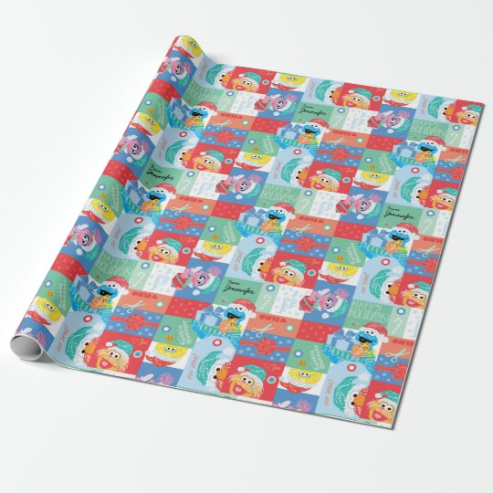 Sesame Street Christmas Pattern | Add Your Name