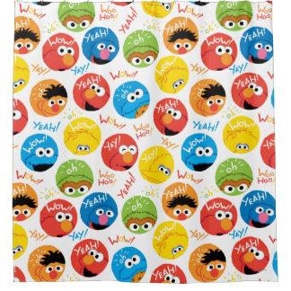 Sesame Street Circle Character Pattern