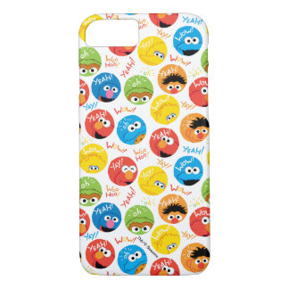 Sesame Street Circle Character Pattern iPhone 7 Case