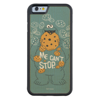 Sesame Street | Cookie Monster - Me Can't Stop Carved Maple iPhone 6 Bumper Case