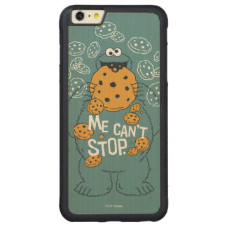 Sesame Street | Cookie Monster - Me Can't Stop Carved Maple iPhone 6 Plus Bumper Case