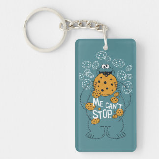 Sesame Street | Cookie Monster - Me Can't Stop Double-Sided Rectangular Acrylic Keychain