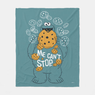 Sesame Street | Cookie Monster - Me Can't Stop Fleece Blanket